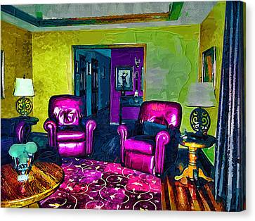 Canvas Print featuring the painting The Living Room by Tyler Robbins