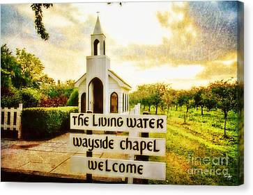 The Living Water Wayside Chapel Canvas Print by Scott Pellegrin