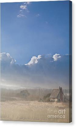 The Lock Keepers Cottage Canvas Print by Jan Bickerton