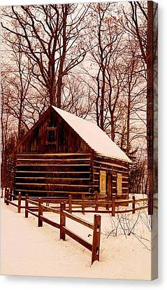 The Log Cabin At Old Mission Point Canvas Print