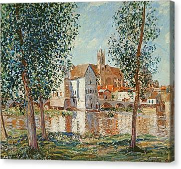 The Loing At Moret September Morning Canvas Print by Alfred Sisley