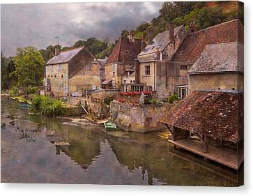 The Loir River Canvas Print by Debra and Dave Vanderlaan