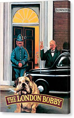 Policeman Canvas Print - The London Bobby by Peter Green