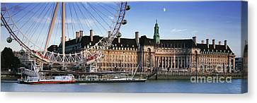 The London Eye And County Hall Canvas Print