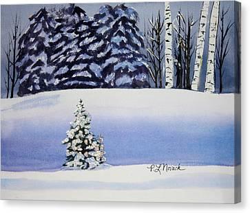 The Lone Christmas Tree Canvas Print by Patricia Novack