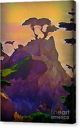 The Lone Cypress Canvas Print by John Malone