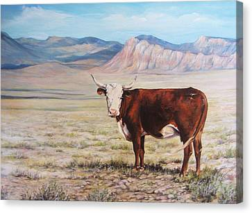The Lone Range Canvas Print by Donna Tucker