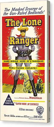 The Lone Ranger, Australian Poster Art Canvas Print