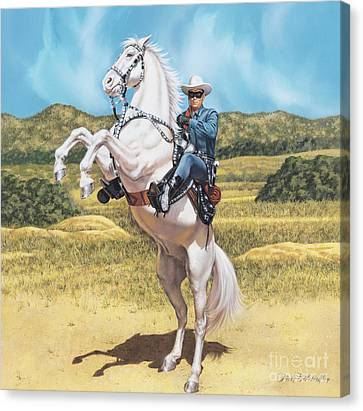 Clayton Canvas Print - The Lone Ranger by Dick Bobnick