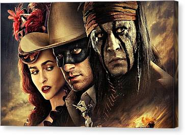 The Lone Ranger Canvas Print by Movie Poster Prints