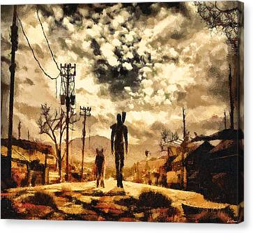 Power Canvas Print - The Lone Wanderer by Joe Misrasi