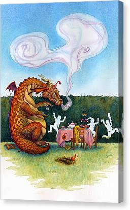 The Lonely Dragon Canvas Print by Isabella Kung