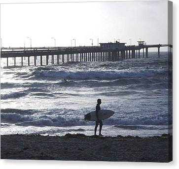 The Lonely Surfer  Canvas Print
