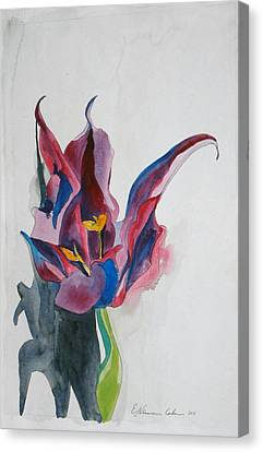 The Lonely Tulip Canvas Print by Esther Newman-Cohen