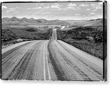 The Long And Lonely Road Canvas Print