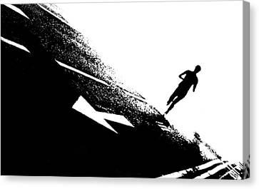 The Long Distance Runner Canvas Print