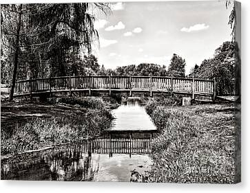 The Long Footbridge Canvas Print by Olivier Le Queinec