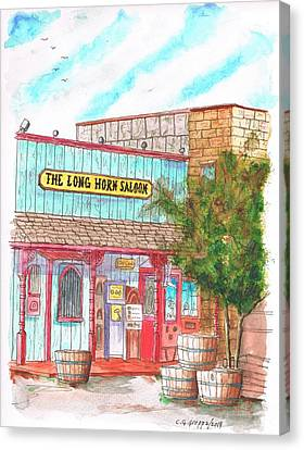 The Long Horn Saloon In Route 66, Williams, Arizona Canvas Print by Carlos G Groppa