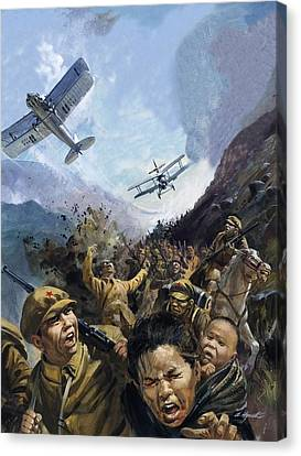 The Long March Canvas Print by Andrew Howat