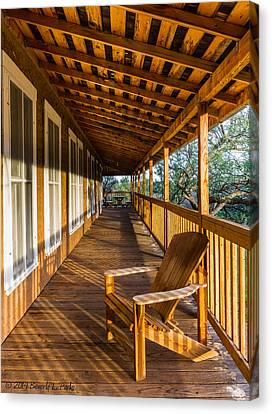 Canvas Print featuring the photograph The Long Porch by Beverly Parks