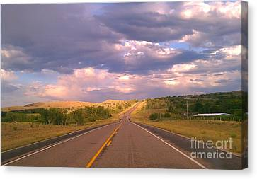 Canvas Print featuring the photograph The Long Road Home by Chris Tarpening