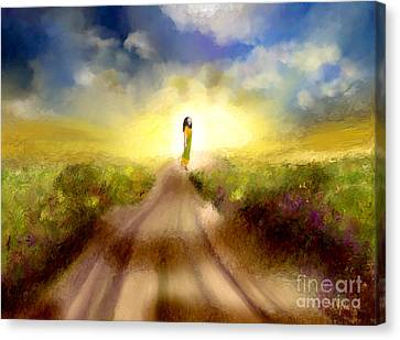 The Long Road Canvas Print by Sydne Archambault