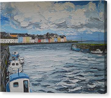The Long Walk Galway Canvas Print by Diana Shephard