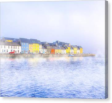 The Long Walk In A Galway Fog Canvas Print by Mark Tisdale