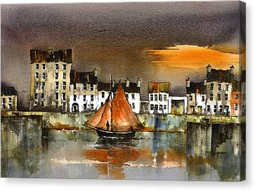 The Long Walk Sunset Galway Citie Canvas Print