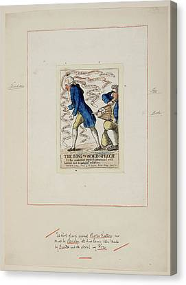 Trial Canvas Print - The Long-winded Speech by British Library