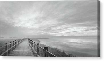 The Long Wooden Footbridge. Canvas Print