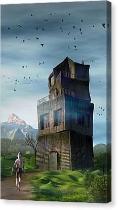 Canvas Print featuring the digital art The Longest Day by Matt Lindley