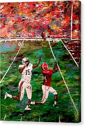 Pallet Knife Canvas Print - The Longest Yard - Alabama Vs Auburn Football by Mark Moore