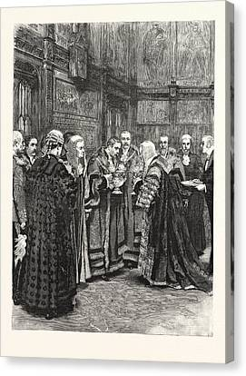 The Lord Chancellor Expressing Her Majestys Approval Canvas Print by English School
