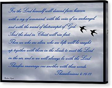 The Lord Himself Will Descend Canvas Print - The Lord Himself Will Descend by Barbara Snyder