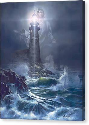 Police Art Canvas Print - The Lord Is My Light by Danny Hahlbohm