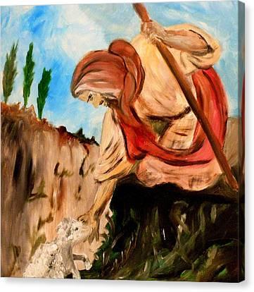 The Lord Is My Shepherd Canvas Print by Amanda Dinan