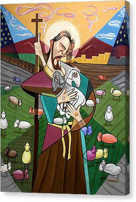 Jesus Canvas Print - The Lord Is My Shepherd by Anthony Falbo