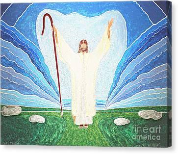 The Lord Is My Shepherd Eee011 Canvas Print by Daniel Henning