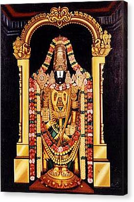 Canvas Print featuring the painting The Lord Of Seven Hills by Ragunath Venkatraman