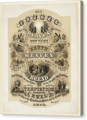 The Lords Prayer Canvas Print by Bill Cannon