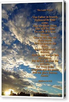 Sun Rays Canvas Print - The Lords Prayer by Glenn McCarthy Art and Photography
