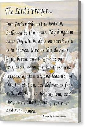 The Lords Prayer Canvas Print