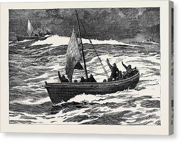 The Loss Of The Jeannette Separation Of The Boats Canvas Print