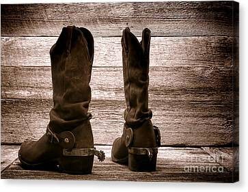 The Lost Boots Canvas Print by Olivier Le Queinec
