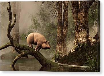The Lost Pig Canvas Print by Daniel Eskridge