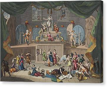 The Lottery, Illustration From Hogarth Canvas Print