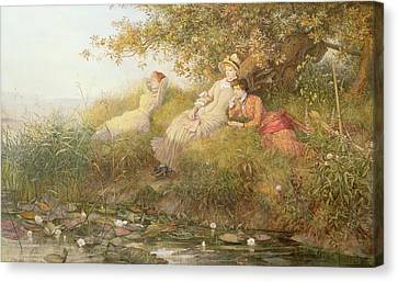 The Lotus Eaters, 1893 Canvas Print by Charles J Staniland