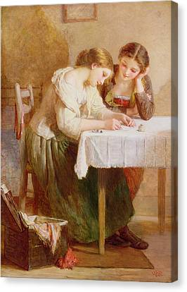 The Love Letter, 1871 Canvas Print by Henry Le Jeune