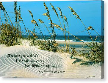 The Love You Withhold Canvas Print by Mike Flynn